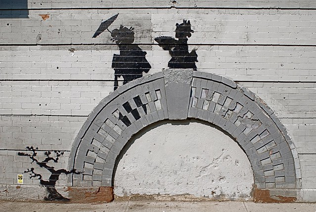 "Banksy's Street Art in Williamsburg, Brooklyn on Day 17 of ""Better Out Than In"""