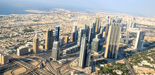 Views from Top of Burj Khalifa, Tallest building in the world, Dubai, UAE