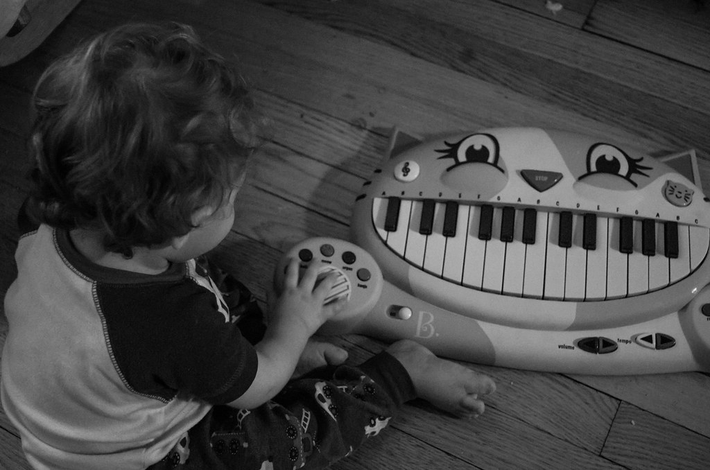 Micah and his Piano