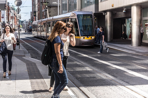 """Luas Tram Stop """"Jervis"""" On Abbey Street In Dublin by infomatique"""