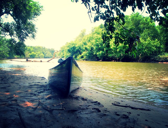 the riverbank beach