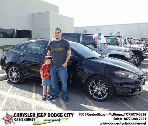 Thank you to Jason Miller on your new 2014 #Dodge #Dart from Carlos Sisk and everyone at Dodge City of McKinney! #NewCarSmell by Dodge City McKinney Texas