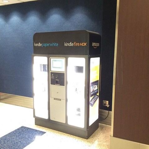 自動販売機でKindle売ってる