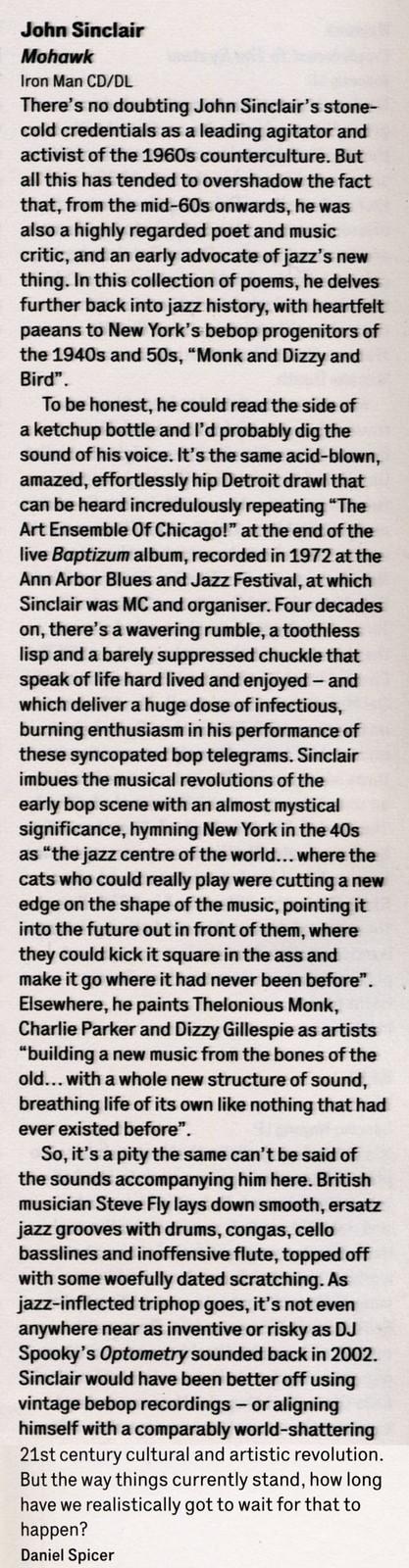 John Sinclair - Mohawk - The Wire - March 2014 album review