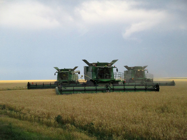 The combine operaters cut into a new field and enter field info into their Green Star