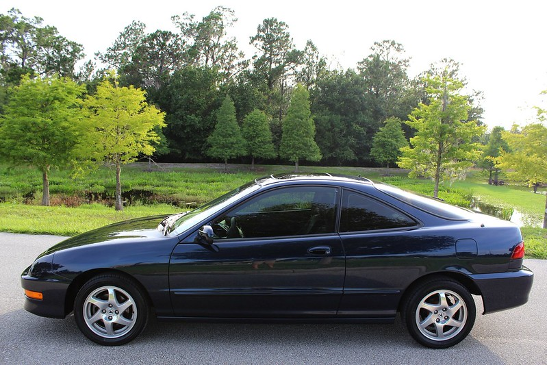 Dark Blue Acura Integra Gsr