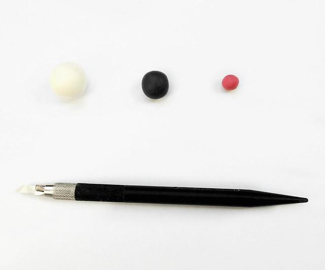 Panda fimo tutorial 01
