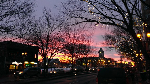 Sunset over Whyte Avenue