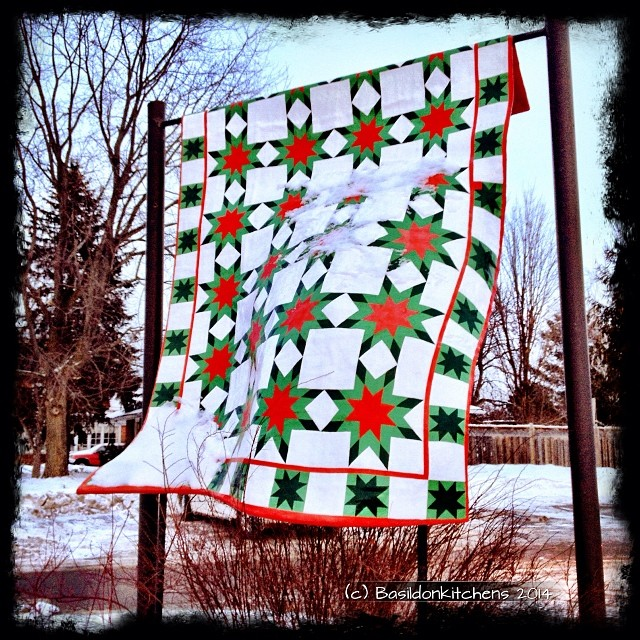 """23/1/2014 - artful {Prince Edward County is very """"artful"""". This sculptured quilt can be found in Bloomfield, on the """"Arts Trail""""} #photoaday #artful #art #artists #bloomfield #princeedwardcounty #quilt #sculpture"""