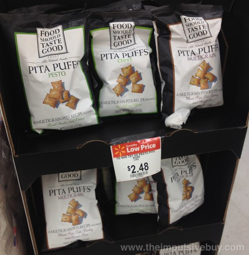 Food Should Taste Good Pita Puffs Pesto and Multigrain