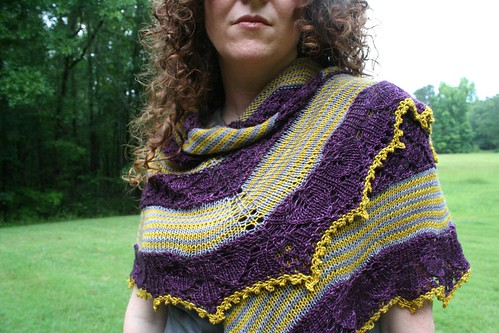 knitted :: Germinate (2013 TTL Mystery Shawl)
