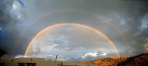 Double Rainbow over Fort Davis Lodge