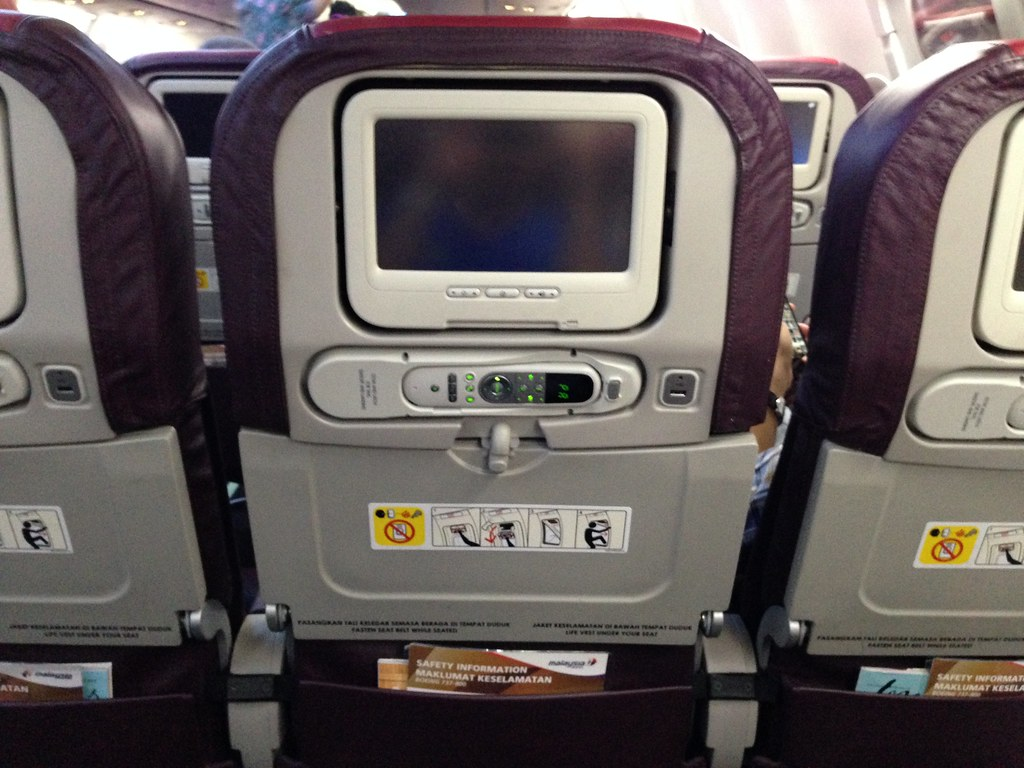 Seatback on Malaysia Airlines 737-800