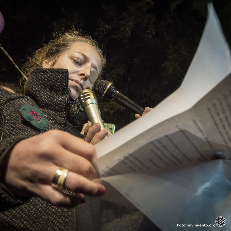 #14N Ester Quintana un any després de perdre un ull Foto: Fotomovimiento