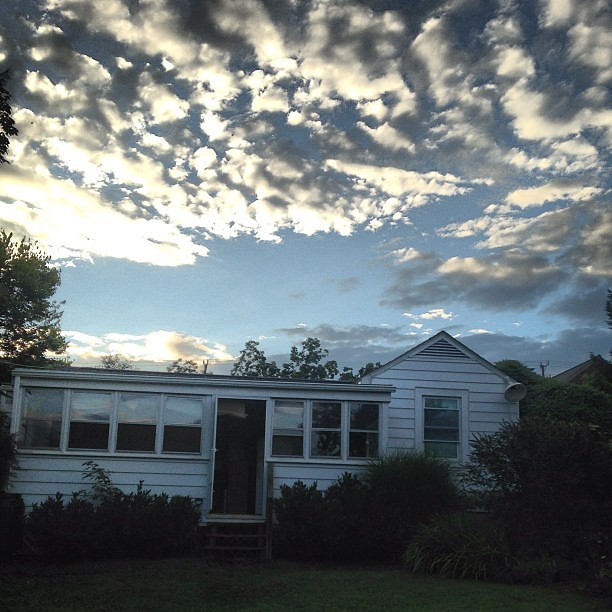 Sky after the rain. #backyardliving #summersky