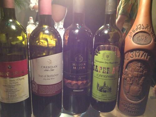 中近東のワインたち