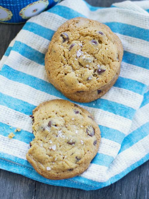 rosemary, choc chip & sea salt cookies