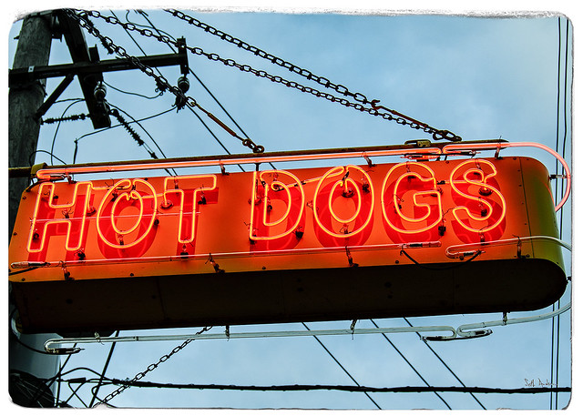 Hot Dogs - Neon