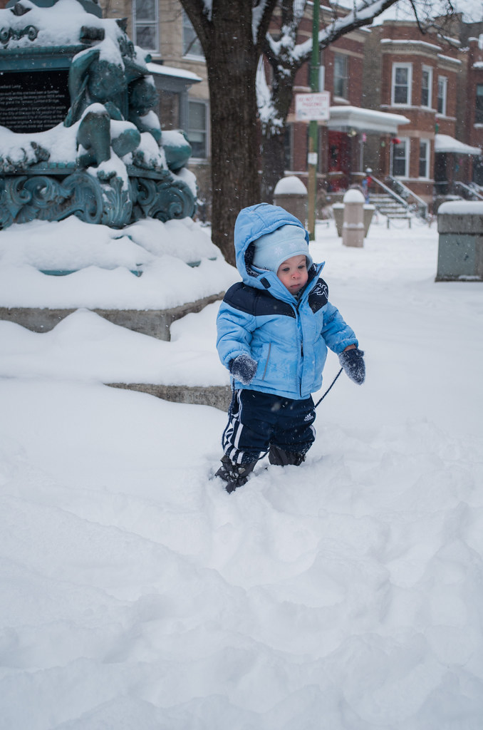 Micah in the Snow