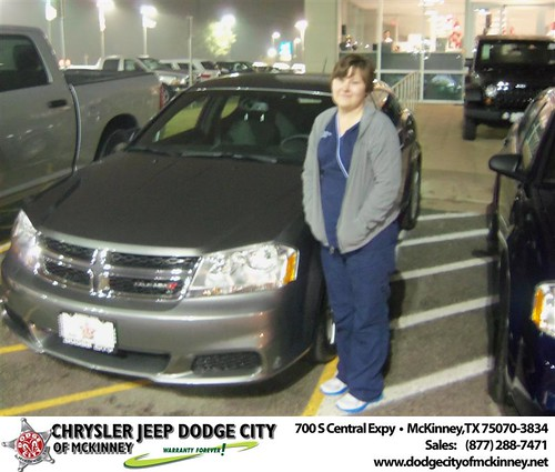 Happy Anniversary to Rosita Solis on your 2013 #Dodge #Avenger from Joe Ferguson  and everyone at Dodge City of McKinney! #Anniversary by Dodge City McKinney Texas
