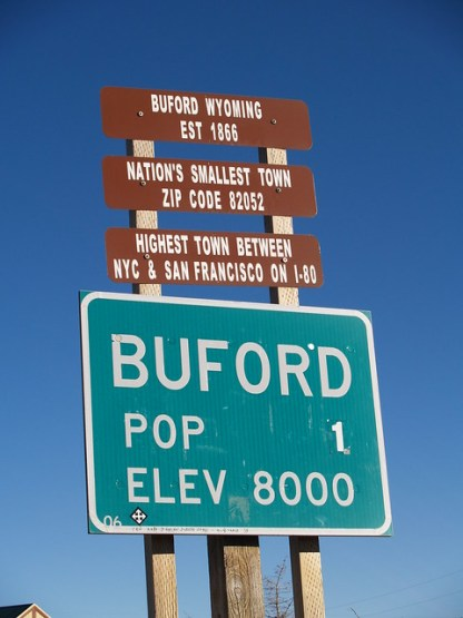 Buford, WY: Population 1