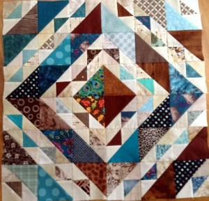 Brown & Teal King Size Quilt
