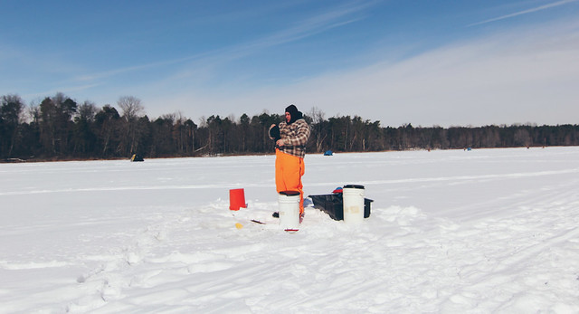 Ice Fishing - Mogadore Lake
