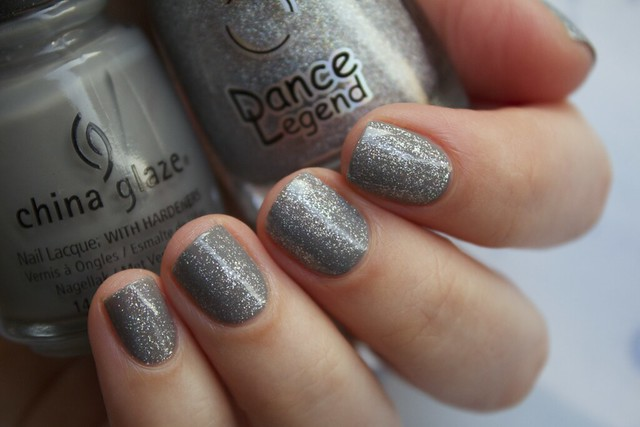 03 China Glaze Recycle + Dance Legend Steel Panther