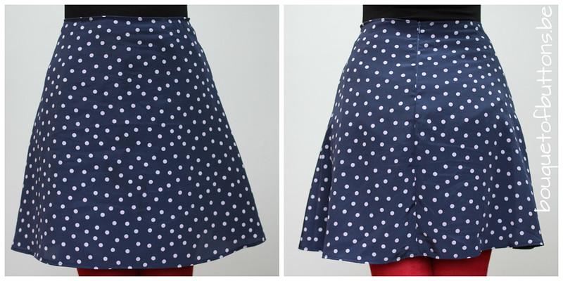 blue polka dot skirt
