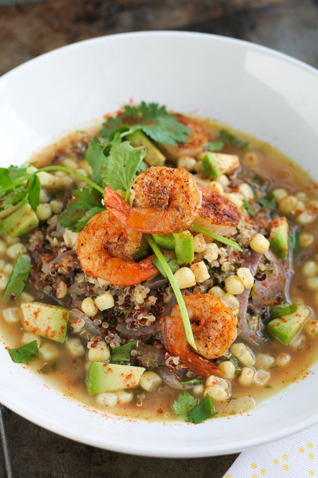 cilantro quinoa soup recipe [ inthiskitchen.com ]