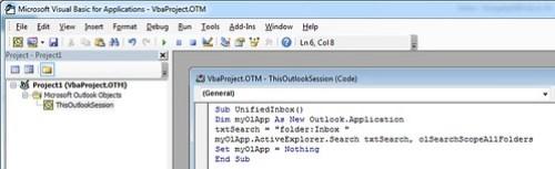 เรียก Microsoft Visual Basic for Applications ขึ้นมา แล้วพิมพ์โค้ดลงไป