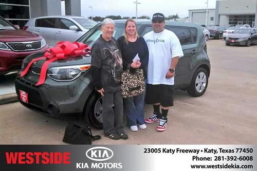 Thank you to Geraldine  Jones on your new 2014 #Kia #Soul from Gil Guzman and everyone at Westside Kia! #LoveMyNewCar by Westside KIA