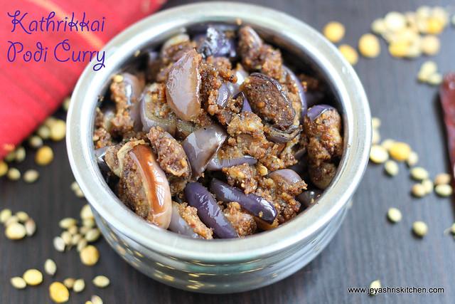 Kathrikaai podi curry