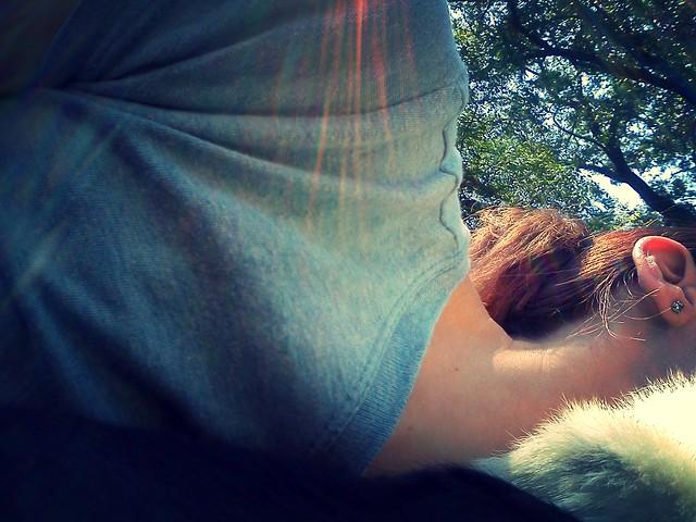 cuddling with Teddy