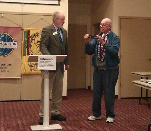 Bruce at Toastmasters