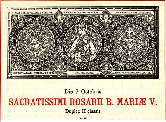 Aus dem Missale Romanum (1923) zum 7. Oktober