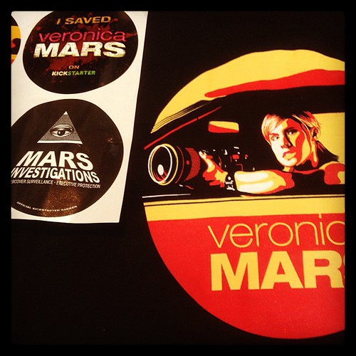 Yay!! My backer package arrived! #veronicamars #kickstarter