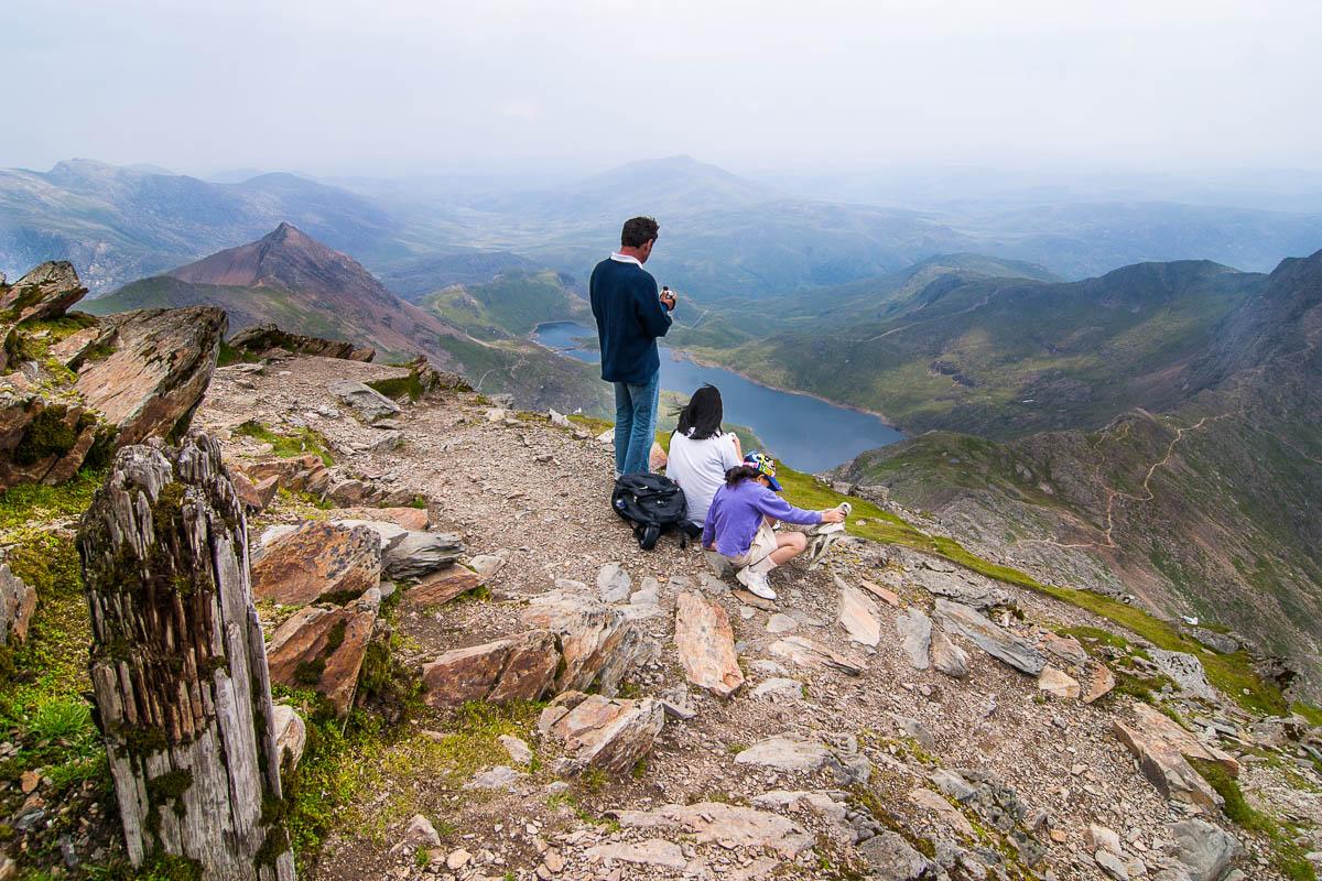 Desde la cima del Monte Snowdon