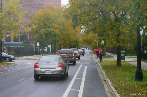 Bicycling on South Shore Drive