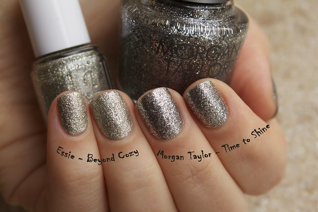 04 Morgan Taylor Time To Shine swatches comparison