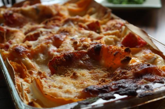 Lasagna of layered tomatoes