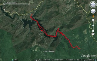 Bear Creek Lake GPS Track