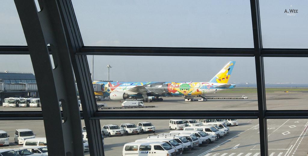 The Pokemon Jet at Haneda