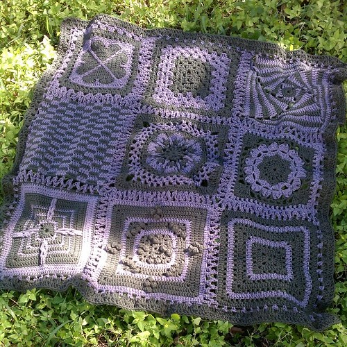 Eep! Almost forgot the afghan made from Marissa's blocks!