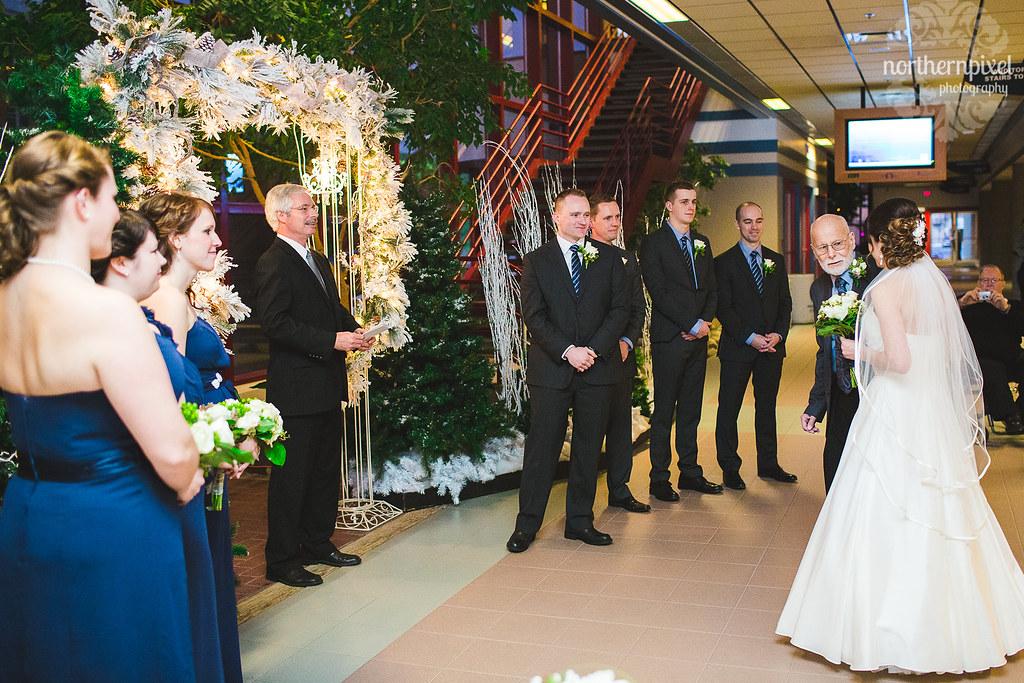 Winter Wedding Ceremony - Prince George Civic Center
