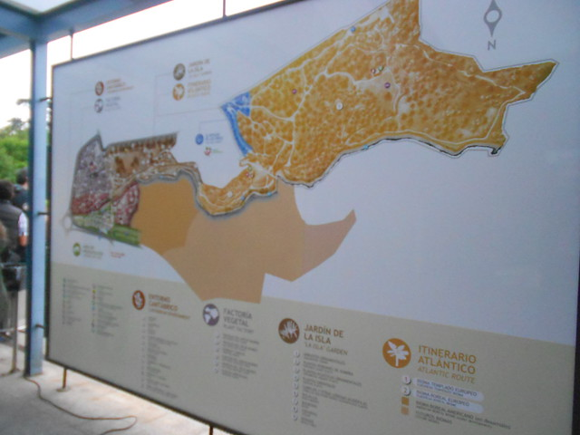 Mapa del Jardín Botánico Atlántico