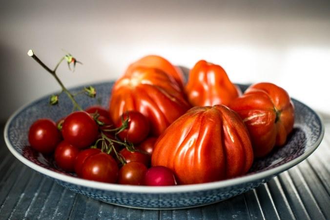 Coeur de boeuf tomaten, perfect voor een stoofschotel met inktvis en chorizo