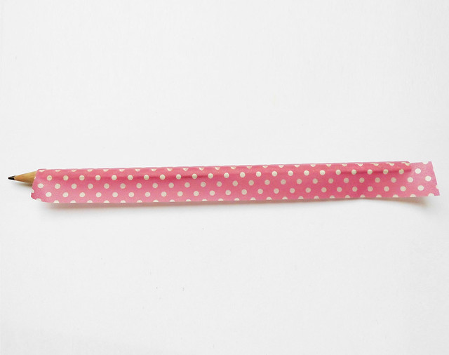 Washi tape pencil 06