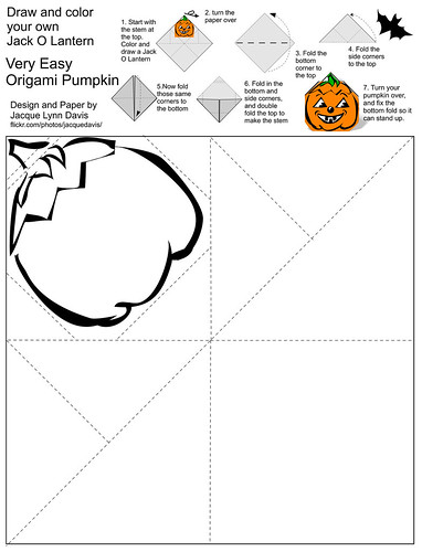 Color Your Own Origami Pumpkin