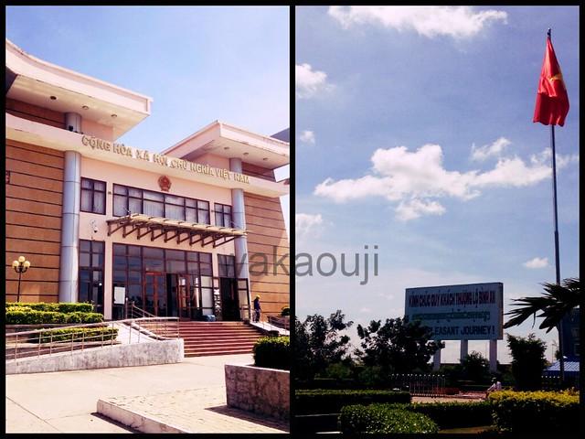 Vietnam Immigration building.